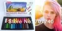 2013 Promotion MUNGYO Hair color Non-toxic chalk (24 color suit) hair dye crayons 24pcs/set hair pastel stick Free shipping