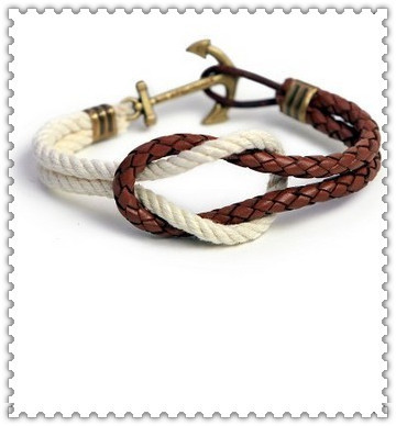 latest anchor rope knot bracelet(China (Mainland))