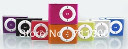 Retail 1pcs,Free shipping Mini Metal Clip MP3 Player,8 colors,only mp3(China (Mainland))