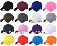 17 Colors Soft Cotton Baseball Golf Plain Blank Ball Cap Hat