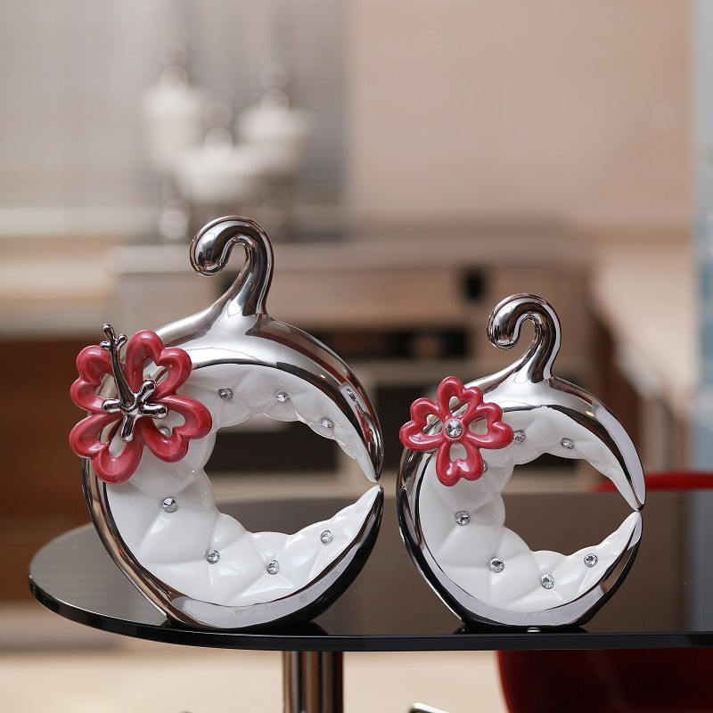 Modern home decoration silver plated pure white diamond decoration fashion abstract home accessories endomorph(China (Mainland))
