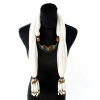Scarf,Drops of enamel bronze butterfly, bronze Color Accessories,16 Colors,180*40cm,Free Shipping Wholesale