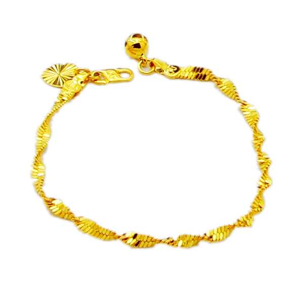 New Arrival Fashion 24K GP Gold Plated Mens Jewelry Bracelet Yellow Gold Golden Bracelet Bangle Free Shipping YHDH023(China (Mainland))