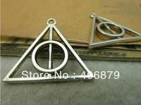 20PCS/LOT Vintage Bracelet Pendant,Antique Silver Harry Potter And The Deathly Hallows Charms,Free Shipping!