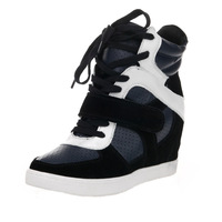 2013 new shoes  spell color high-top casual shoes platform shoes within the higher slope with genuine security