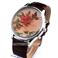 Fashion Oversized Vintage Classical Ladies women girl female Quartz wrist watch #L05008