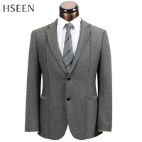 Hot selling Australia America QG 2013 male commercial blazer black and gray stripe single hs382