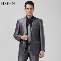 Hot salling America Australia QG male sufficiently graying slanting stripe business suit formal suits slim hs6236