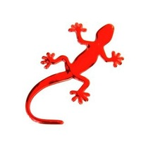 qc026 Free shopping 1pcs car stickers and decals /car accessories Personality color gecko three-dimensional reflective sticker