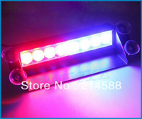8 LED Strobe Flash Warning EMS Police Car Light Flashing Firemen Fog 8LED High Power Red&Blue,free shipping dropshipping