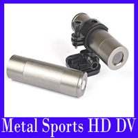 EMS Free shiping Waterproof Metal sports HD DV ,12.0 mage 170 degree wide-angle Sports Action Camera,2pcs/lot