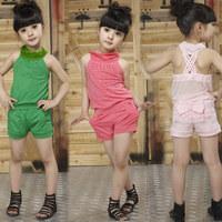 2013 summer girls clothing set child fashion casual female short-sleeve summer princess dress