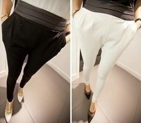 Mushroom women's 2013 summer leather slim harem pants women spring casual pants long trousers