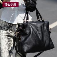 freeshipping 2013 fashion motorcycle rivet big bag one shoulder handbag cross-body bags female - 10094
