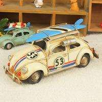 Metal Crafts wrought iron ornaments retro Beetle car model