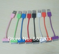 Free EMS DHL FEDEX Shipping 1000pcs/lot USB Data SYNC Charging short Cable Apple Dock Port for iPhone iPod p98