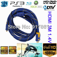 10FT PREMIUM Gold Shielded HDMI Cable V1.4 3D BLU RAY PS3 LCD Xbox 360 1080P 2K*4K High Speed 3M