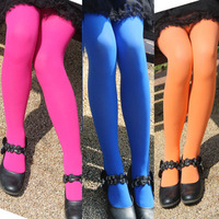 Spring summer female child legging child  baby thin velvet candy color dance legging