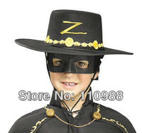 Lot 27 Zorro Children Black  Mask Eye & Hat Combo/Set for Party Masquerade Carnival Halloween Movie