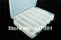 Free Shipping V-S Plastic Box Fishing Tackle Box Double open