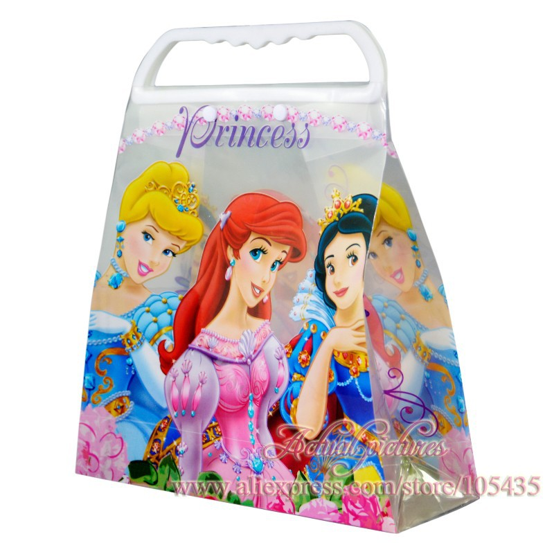 1Pcs Princess Cartoon Kids Handbags 3D Kids Tote Gift bags,PP Kids Gift Boxes,Snack ,Shopping Handbags,Candy Bags,Party Favor(China (Mainland))