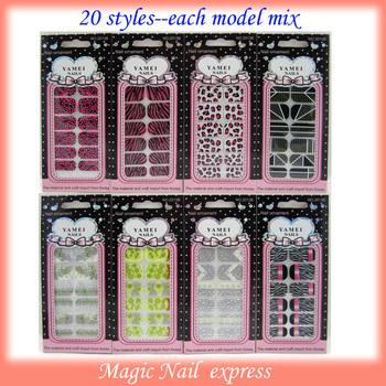 3D Polish-Skin Foil Ultra Thin Nail Art Wrap Patch Sticker nail polish sticker 20 sheets/lot