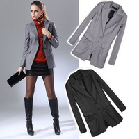 New Arrival Womens Boylish Basic Formal Fitted Slim Tunic BLAZER Jacket SUIT Outwear #L034137