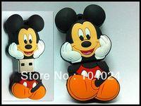 Fast ship 4gb 8gb 16gb 32gb black thinking mickey mouse USB 2.0 flash drive memory pen disk Drop ship dropshipping