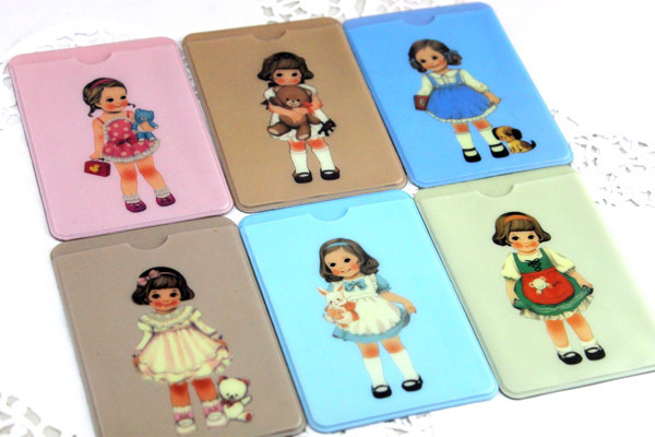lovely sweet girls sweet lovely fashion Credit Card Holder.Bus Card Case (2 sides).Card Package(China (Mainland))