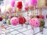 Fashion plush big ball with heart & Plush Ball Style Earphone Dock Port Anti-dust Plug for 3.5mm cellphone