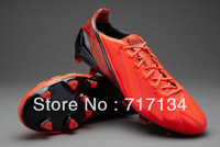 Free EMS Shipping Infrared Leather Soccer Shoes for Men's Outdoor Cleats New Arrivals US6.5-12Size Team Athletic Ball Footwear