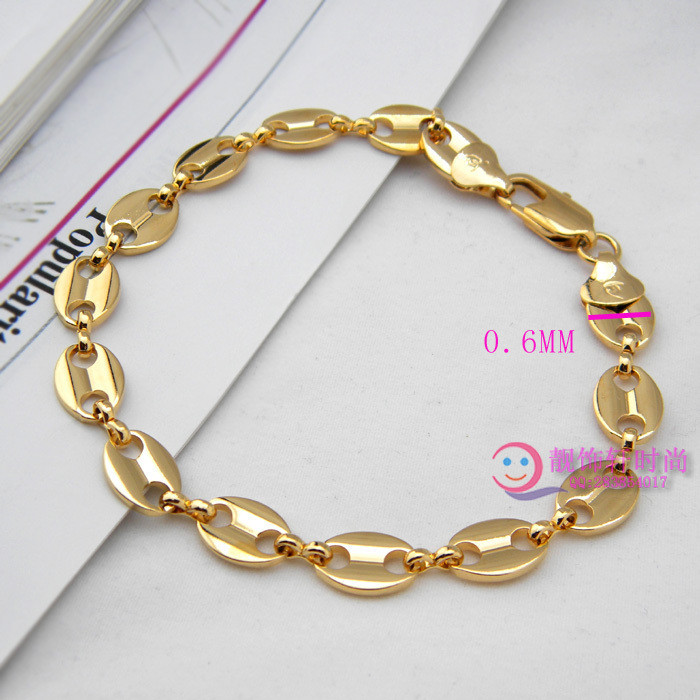 Min order is $15 Gold male bracelet fashion coffee beans bracelet boys accessories male personality bracelet(China (Mainland))