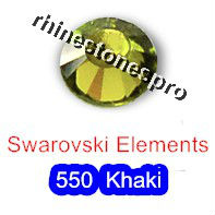 ss20 GENUINE Swarovski Elements Khaki ( 550 ) 144 pcs ( NO hotfix Rhinestone ) Round Clear Glass 20ss 2058 FLATBACK Crystal Bulk(Hong Kong)