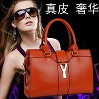Free shipping 2013 women's genuine leather handbag hot-selling bags fashion casual bag genuine leather bag