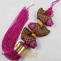 Fashion Upscale gift three fish chinese knot  chinese Craft Gifts   TASSELS  small gifts Mini pendant-42