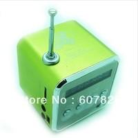 Free Shipping TD-V26 Digital Mini Speaker for MP3 / MP4 / PC,Support TF/SD Card/Radio/USB