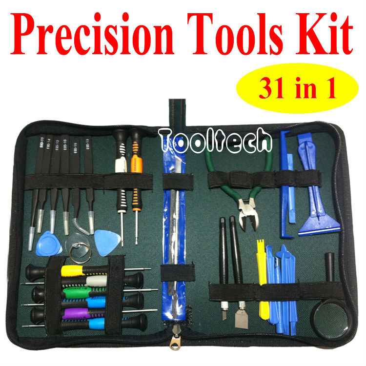 Freeshipping 31 in1 Full Set Pentalobe PH Torx Screwdrivers Plier Tweezers Kit Opening Repair Phone Tools Set for iPhone Samsung(China (Mainland))