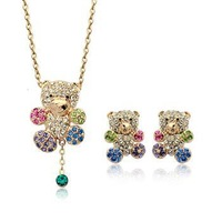 Italina Rigant 2013 Autumn New Arrival Lovely Teddy Bear Jewelry Set