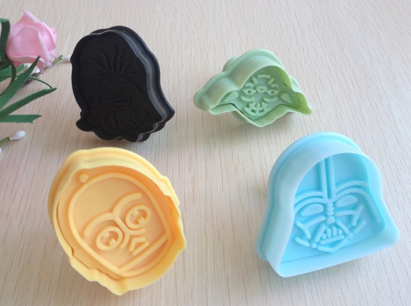 Free shipping New 3D Stamp Star Wars Set cake Cookie Cutter Fondant decorating tools(China (Mainland))