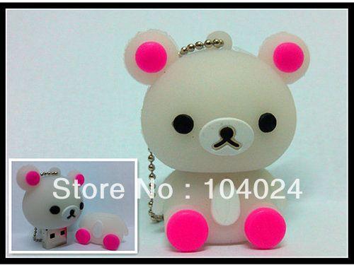 Fast ship 4gb 8gb 16gb 32gb female bear pink paw USB 2.0 flash drive memory pen disk Drop ship dropshipping(China (Mainland))
