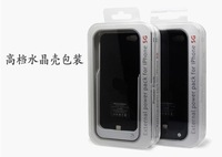 free shipping 5pc/lot External Backup Battery Case Power Pack Bank Extended For iPhone 5 5G+retail box