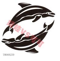 Small dolphin waterproof tattoo stickers tm060259