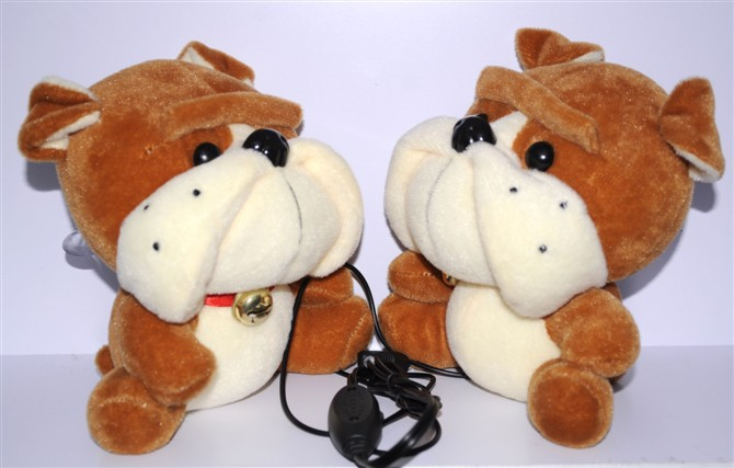 2013 latest hot trend SharPei USB speaker free shipping(China (Mainland))