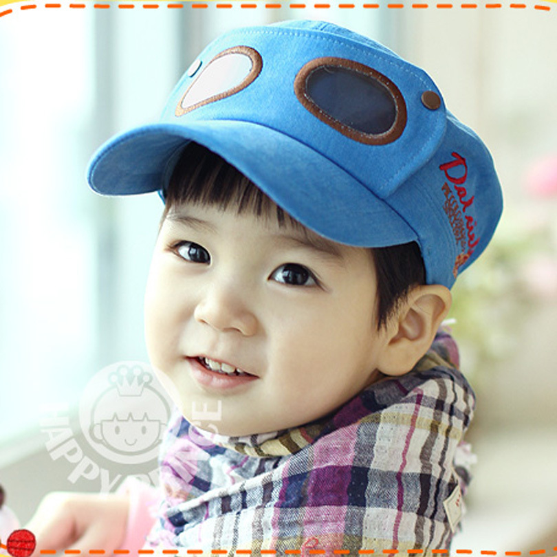 2012 autumn child baseball cap pilots cap personality male female child baby hat(China (Mainland))