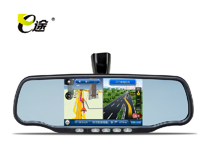 Rear view mirror teleran e v50 car gps bluetooth Visual velocimetry reversing one piece machine(China (Mainland))