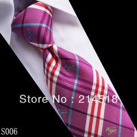 2013 New fashion men's Skinny silk light purple ties for men  S006