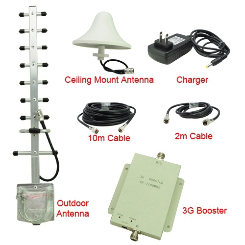 7samples UMTS2100MHz 3G RF Repater For Mobile Phone Signal Booster Amplifer Kit with Ceiling Mount 5dBi Omni Directional Antenna(China (Mainland))