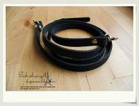 Free shipping 120cm 1.2cm black ,brown high quality genuine leather adjustable shoulder bag strap