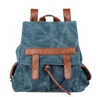 Vintage single backpack women's dual-use  Free shipping handbag denim backpack canvas bag Women student bag travel bag