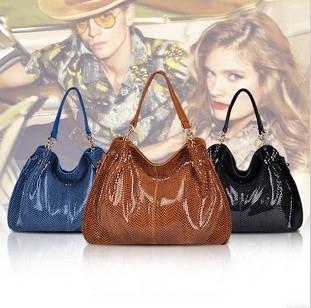 2015 Fashion Solid Snake Skin Designer Handbags High Quality Genuine Leather Serpentine Women's Shoulder Bag Vintage Tote Bags